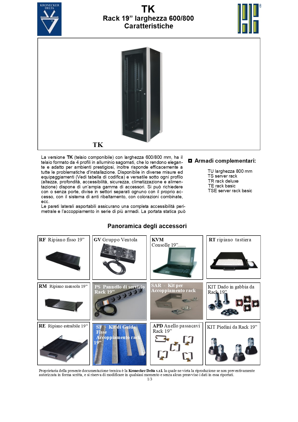 Network rack per sale di rappresentanza