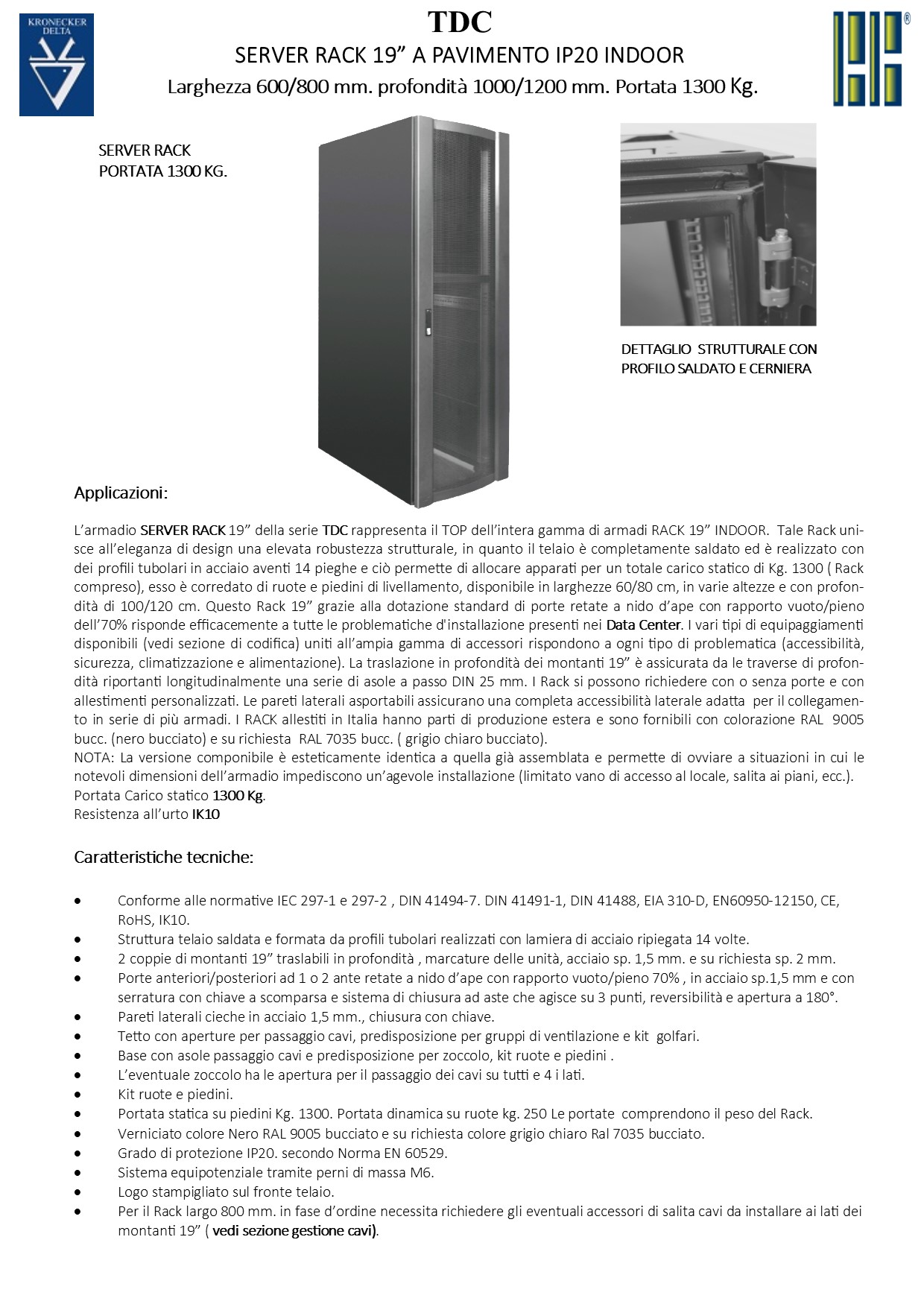 Network rack larghezza 600/800 Linea TOP per SALE SERVER